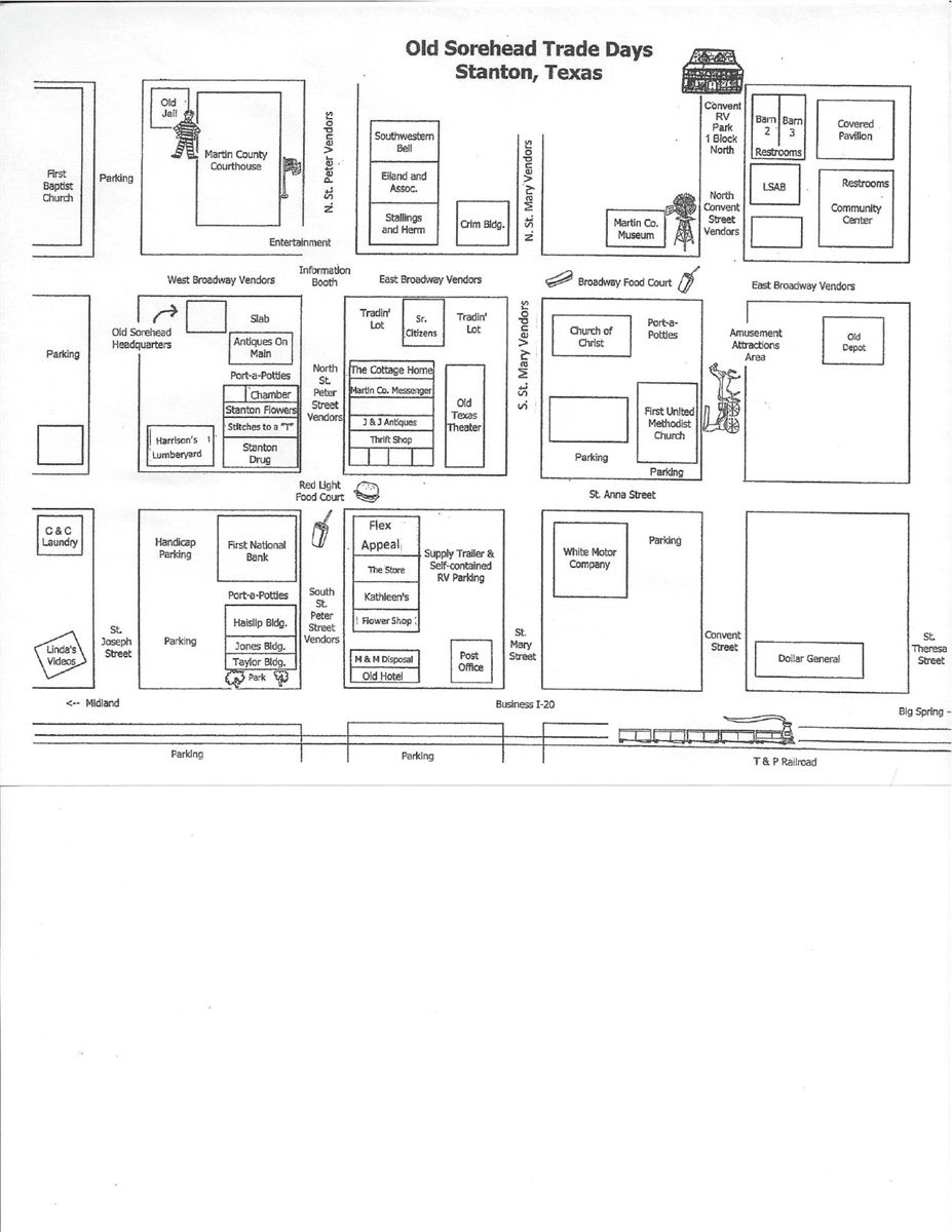 old sorehead trade days map