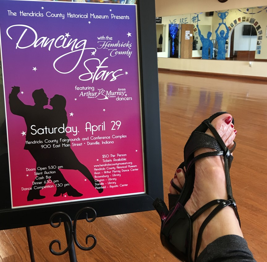 A Dancing with the Hendricks County Stars dancer takes a break from rehearsal. Performance is April 29!