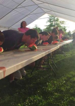 Watermelon Eating & Seed Spitting Contests