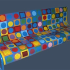 """Visions of Vasarely"" Bench"