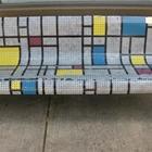 """""""Memories of Mondrian"""" Bench"""