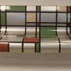 """Modern Mondrian"" Bench"