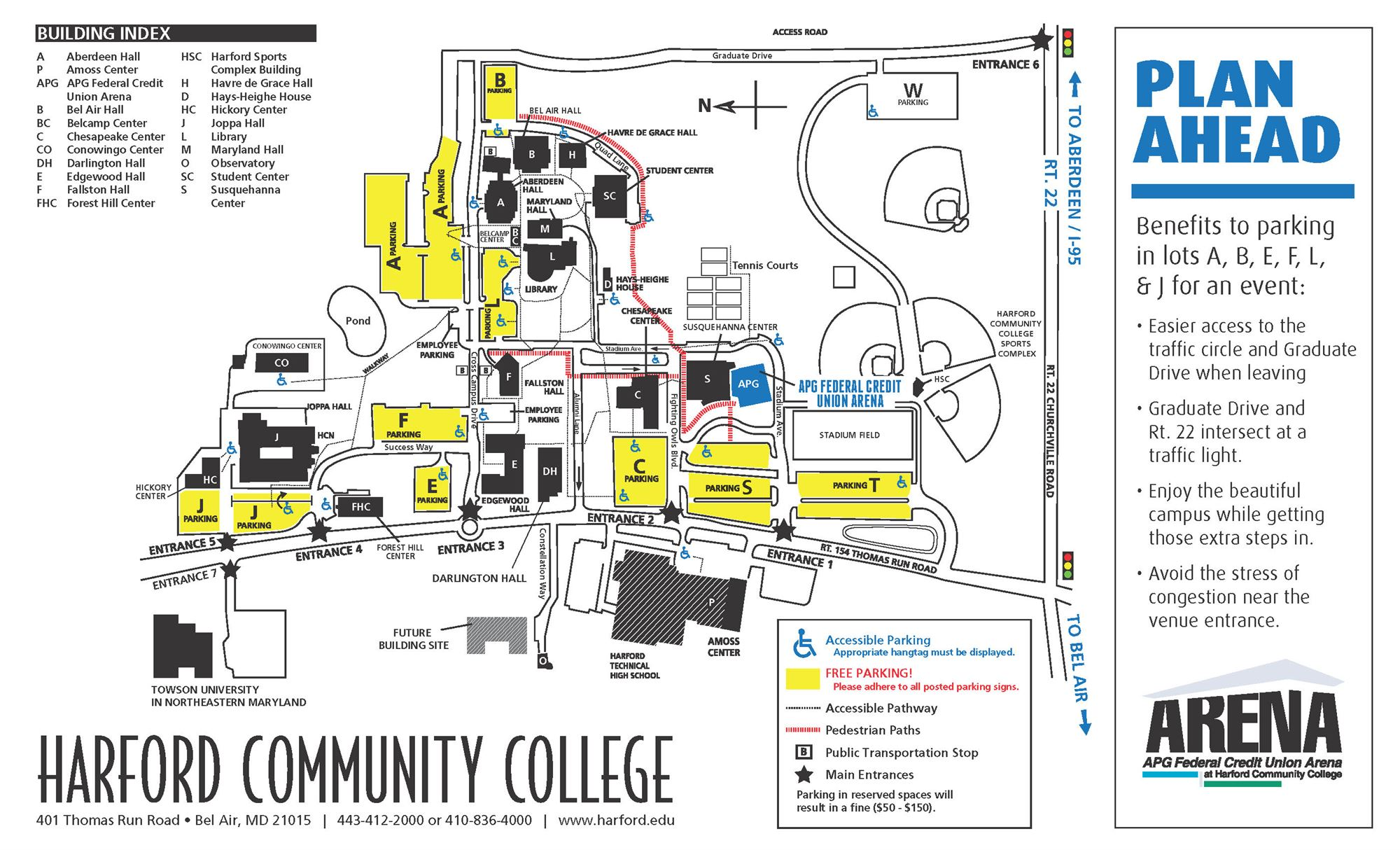Harford Community College Map Country Map