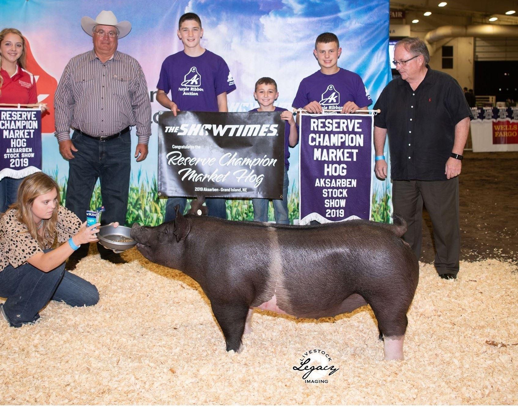 Reserve Champion Market Hog