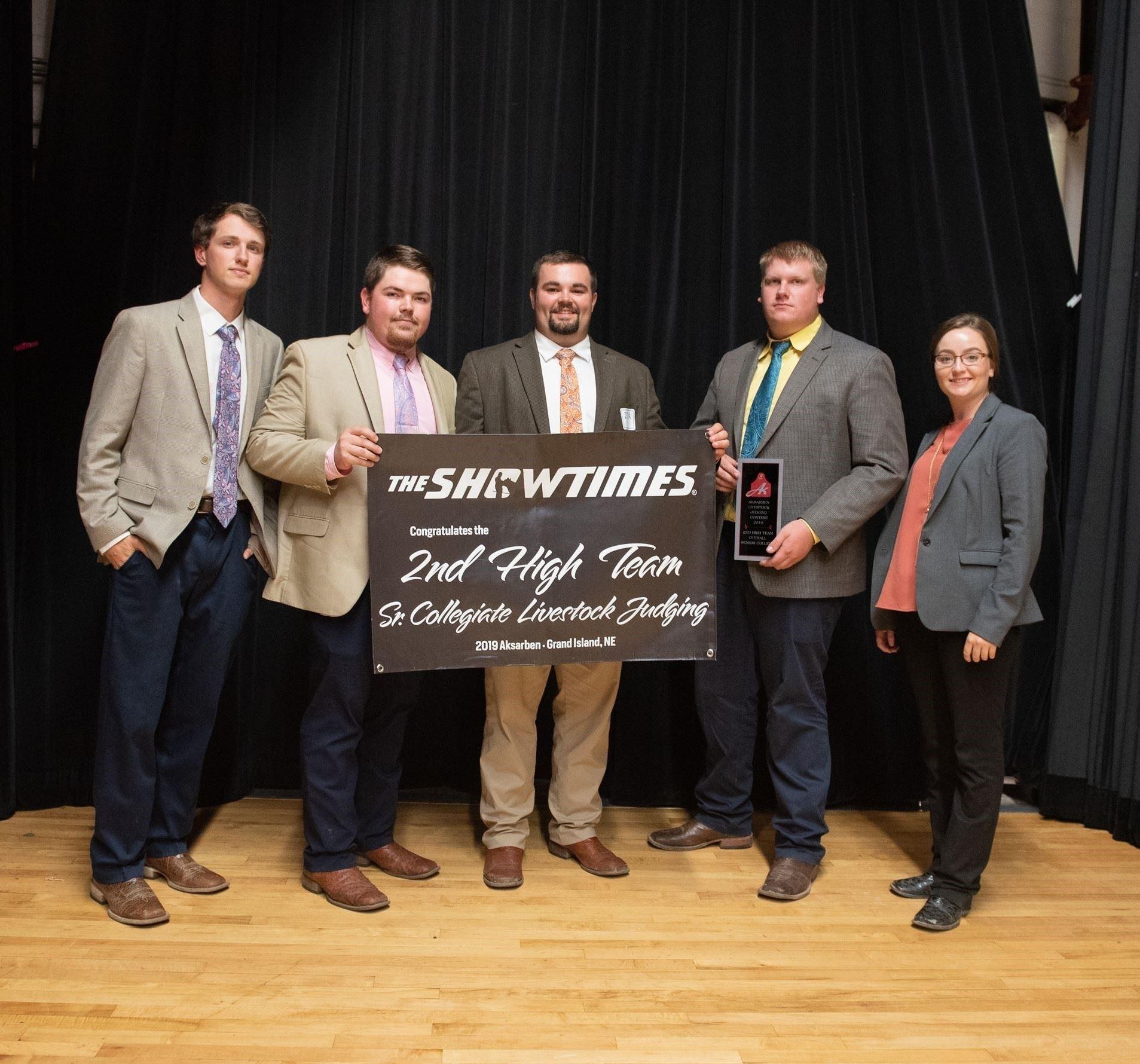 2019 2nd High Team Sr. Collegiate Livestock Judging