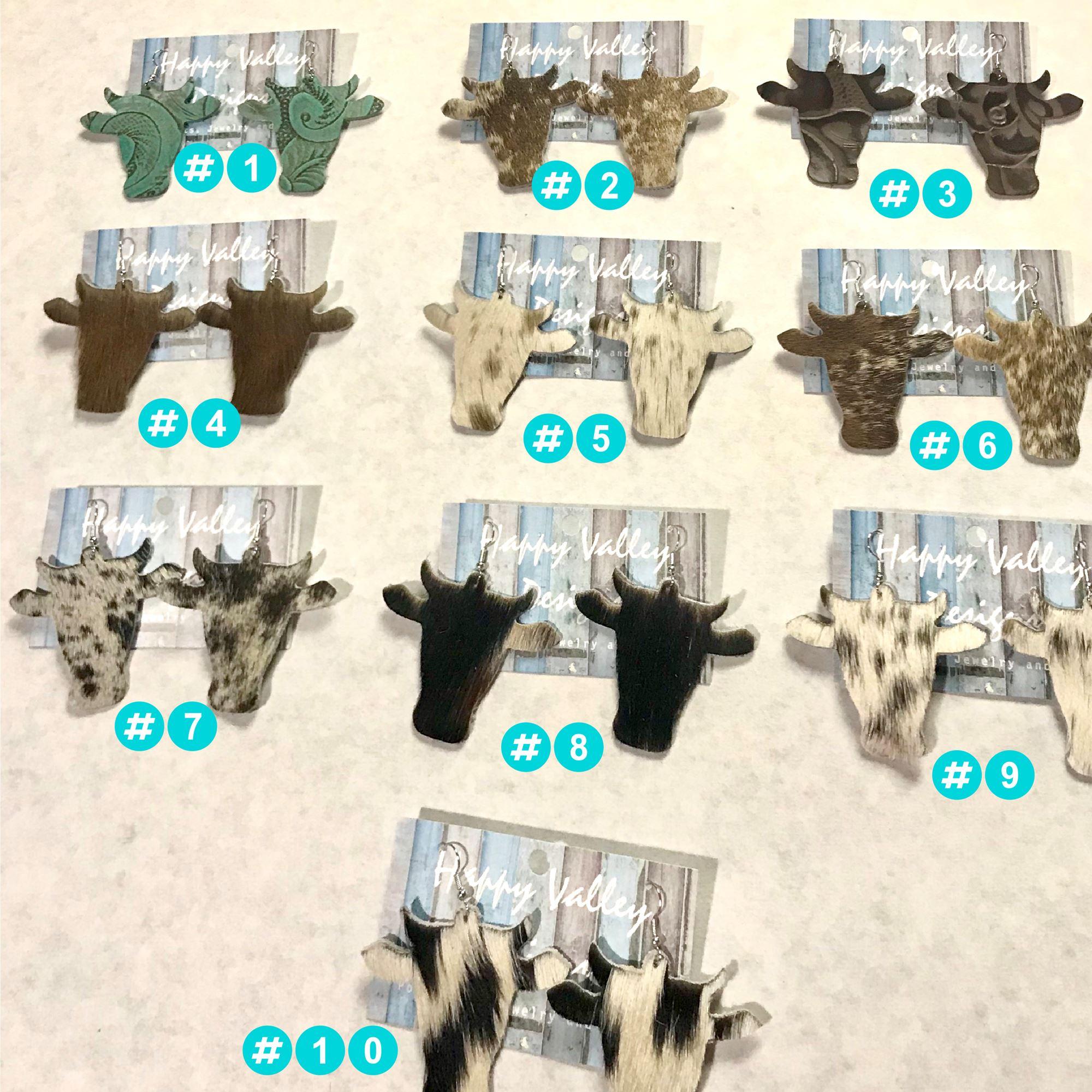Cow Head Earrings