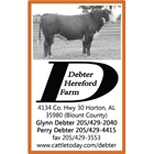Debter Hereford Farm