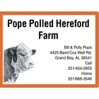 Pope Polled Hereford Farm