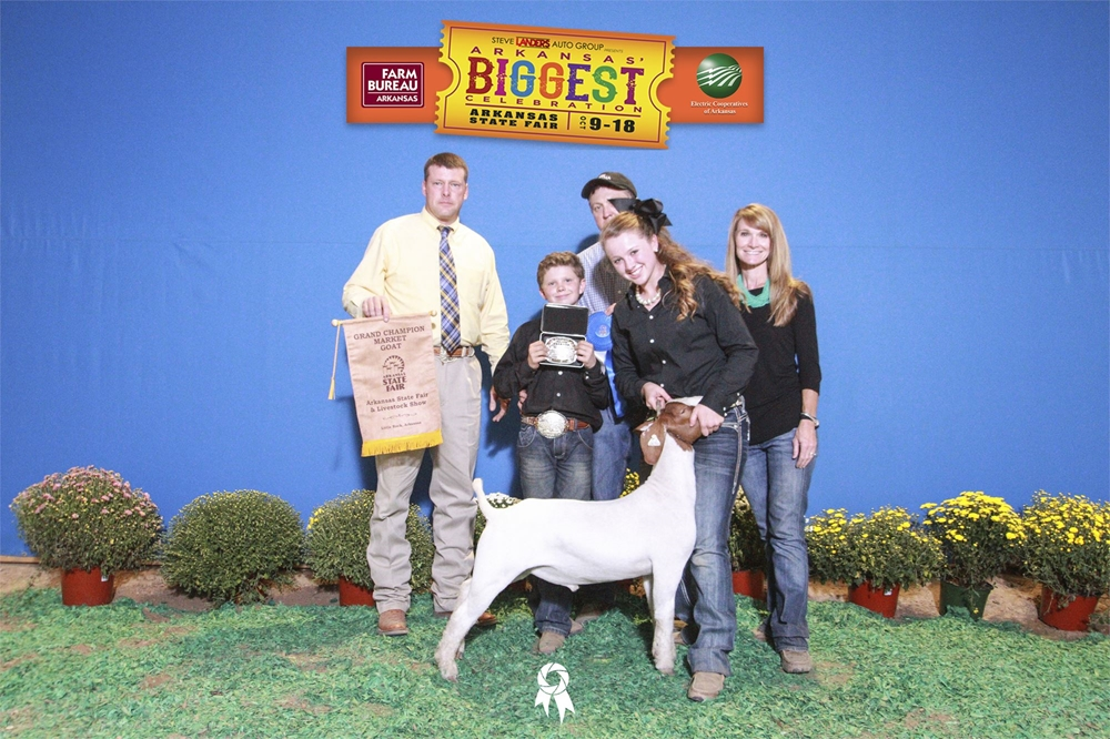 Grand champion Market Goat-Riley Hoyle