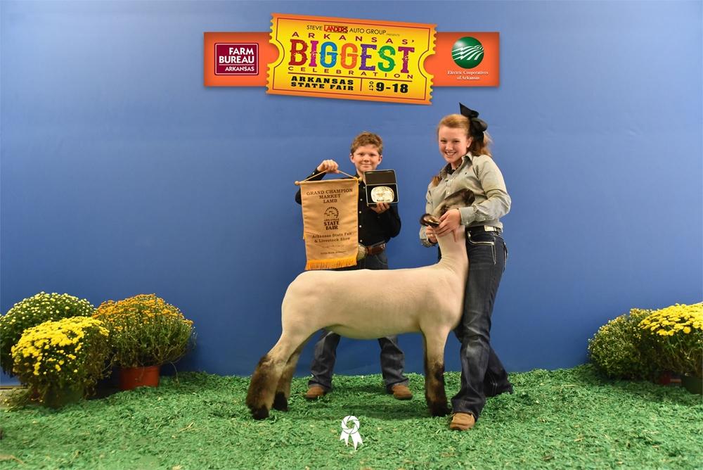 Grand Champion Market Lamb- Riley Hoyle