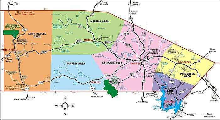 Map Of Bandera Texas Maps