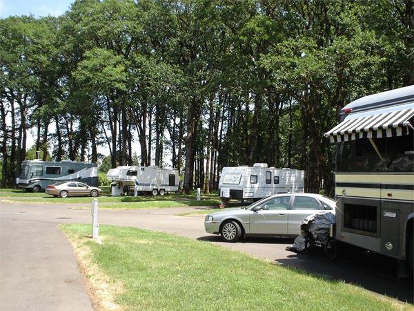 RVs camped at Benton Oaks RV Park