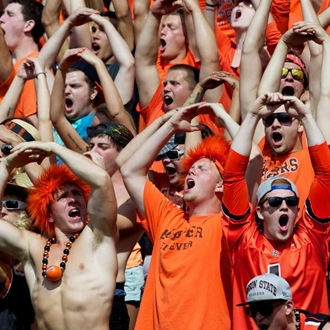 Oregon State University Football Fans Cheering