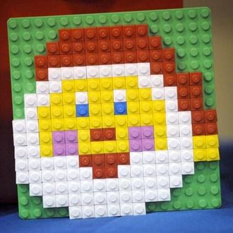 Santa face made with legos