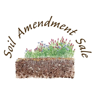 drawing of cross-section view of soil with grass and flowers growing