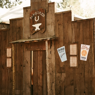 Photo: Old West board storefront