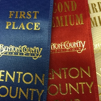 First, Second and Third Place Ribbons