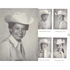 1957 Queen Sylvia (Blair) Marquez, Princess Delores Conrad, Princess Joan Richards, Princess Karen (Lyons) Campbell, Princess Sallie (Austin) McMillin