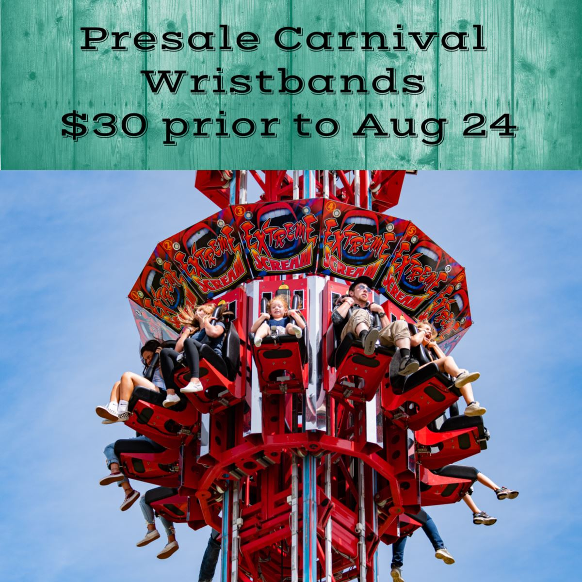 Presale Carnival Wristband $30 prior to Aug 24
