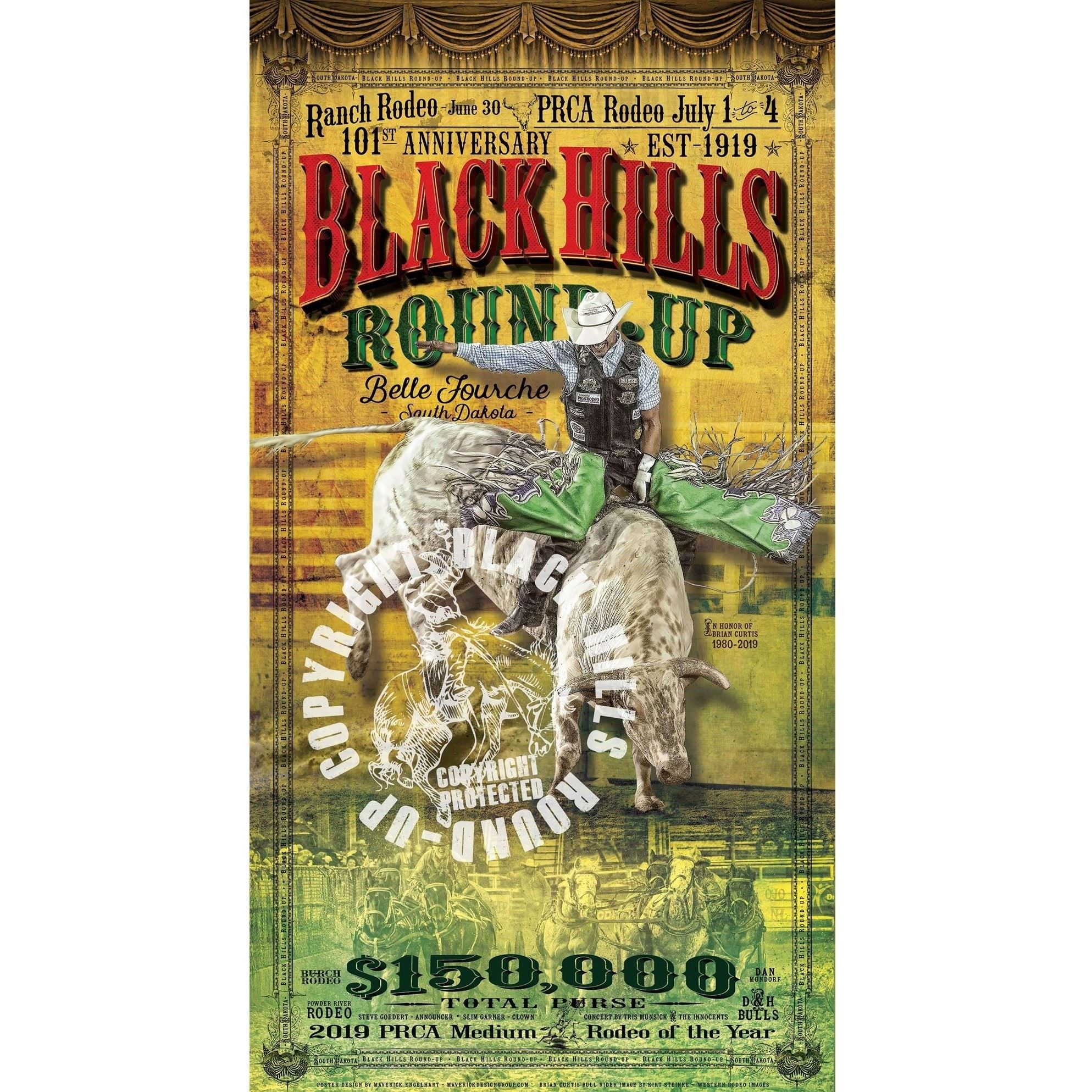 101st Black Hills Roundup Commemorative Poster
