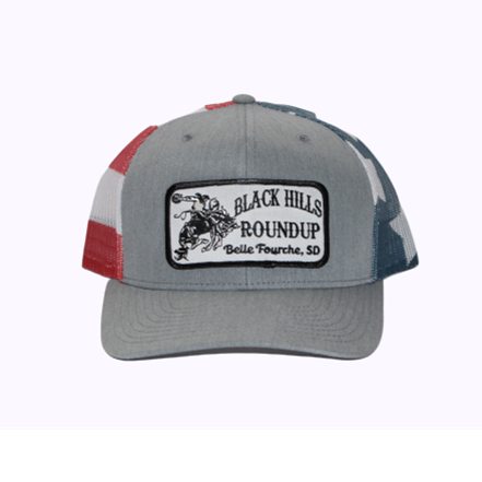 BHR Cap - Grey with Flag & Patch