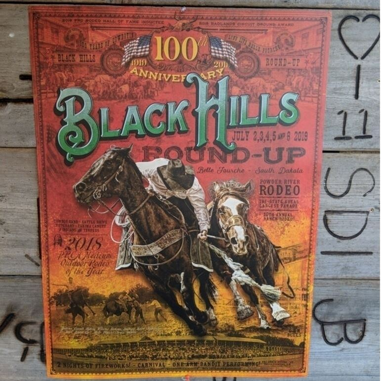 100th Black Hills Roundup Commemorative Poster