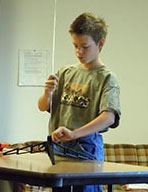 4-H child working on a General Project
