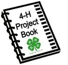Cartoon image of 4-H Project Book