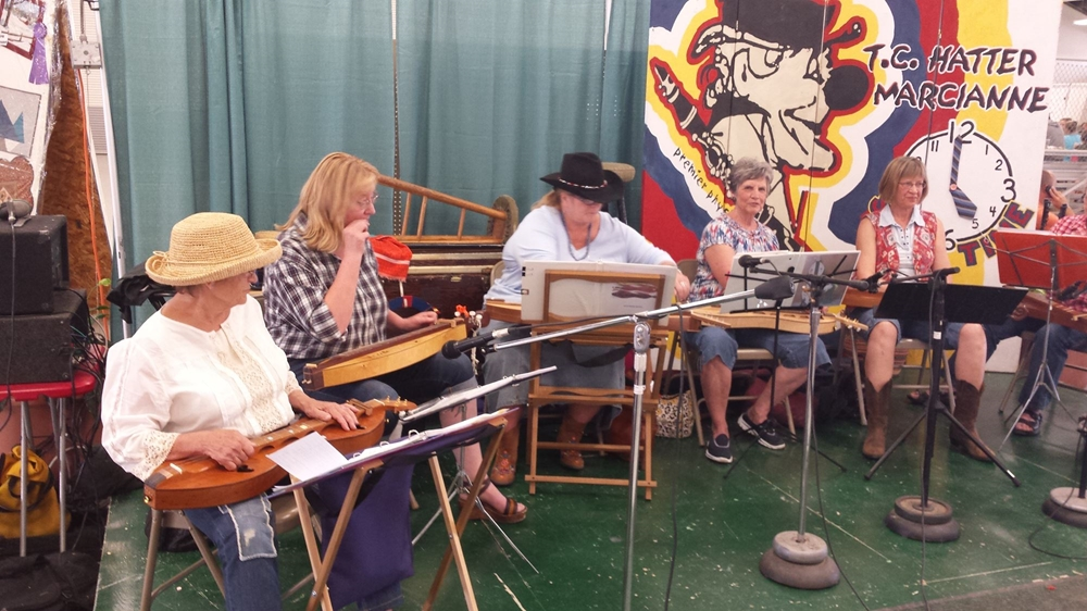 Dulcimer Band playing in the Exhibit Building