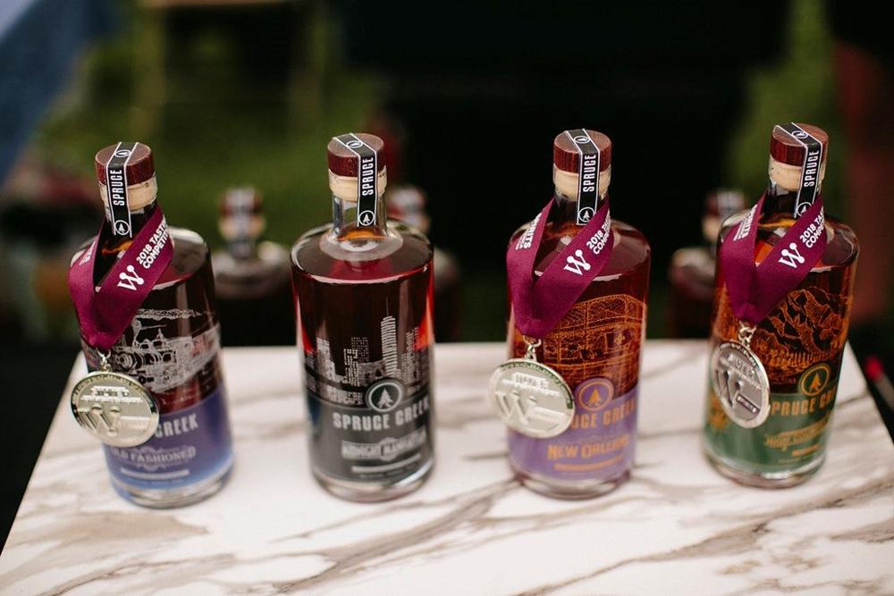 Spruce Creek distillery display
