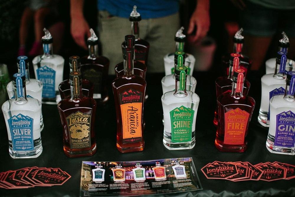 Longtucky Distillery display