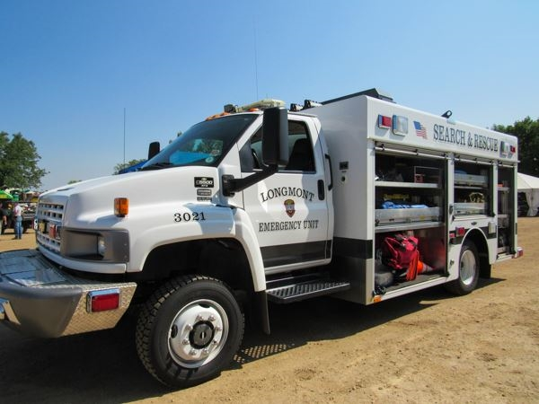 White Search and Rescue truck