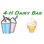Cartoon image of 4-H Dairy Bar showiing milkshakes and ice cream cone