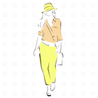 Cartoon image of a fashion model