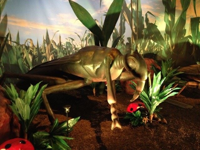 Giant Animatronic Bugs in Bugology Exhibit