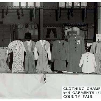 old photo of 4-H garments made in 1940's.