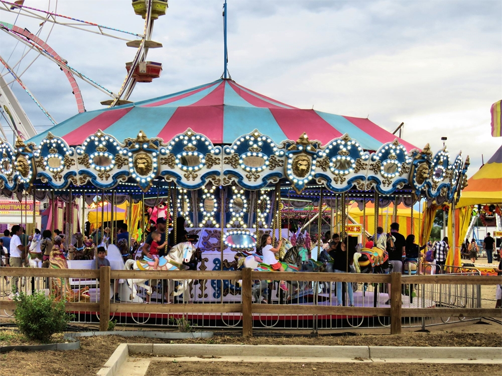 Merry Go Round ride at the fair