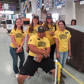 LDS volunteers in the Exhibit Building