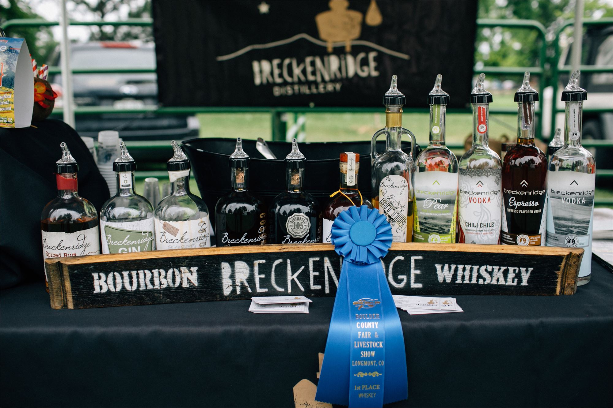Breckenridge distillery display at the Craft Distillery Festival