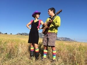 Jeff & Paige Band in a meadow