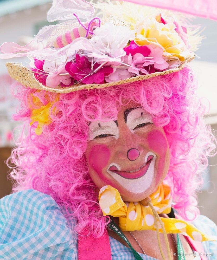 Pippi the Clown's painted face