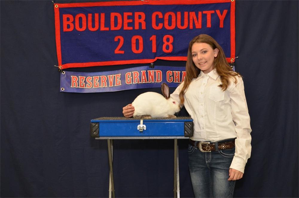 2018 Reserve Grand Champion Market Rabbit