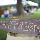 Farm to Table Sign at the Boulder County Fair
