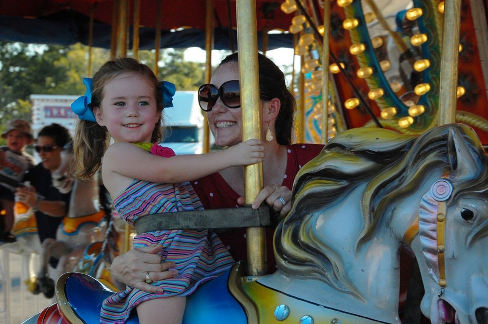 Round and round on the carousel!