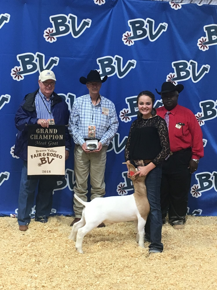 Kylie Wimbish Grand Champion Market Goat 2018