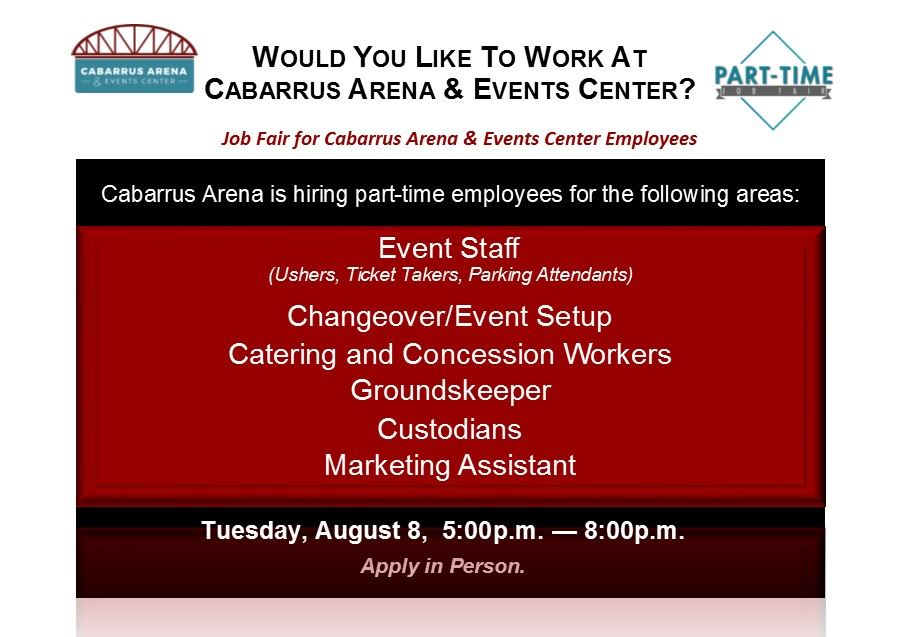 Cabarrus Arena Job Fair