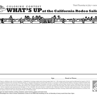 California Rodeo's Coloring Contest is kicking off April 1st