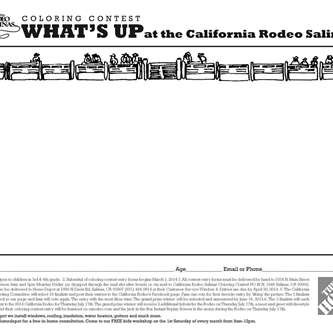 California Rodeo Salinas Coloring Contest opens March 1, 2014