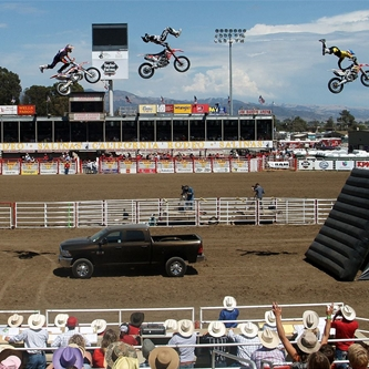 CALIFORNIA RODEO GUARANTEES ENTERTAINING ACTS ON THE TRACK