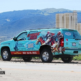 California Rodeo Salinas' Custom Wrapped Vehicle is Hitting the Road